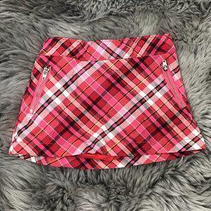 Toughskins | Girl's Skirt | Red Checkered | 12 M